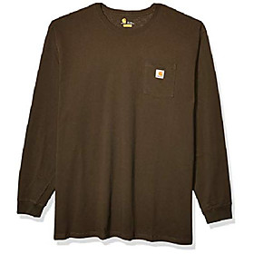 butamp; #39;s k126 workwear jersey pocket long-sleeve shirt amp; #40;regular and big amp; tall sizesamp; #41;, peat, 2x-large