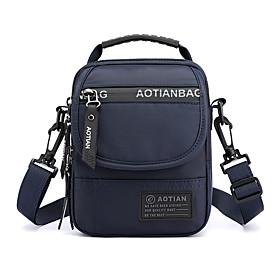 Men's Bags Nylon Crossbody Bag Pattern / Print Zipper for Daily Black / Army Green / Dark Blue / Gray