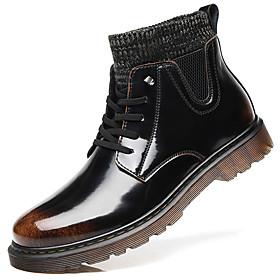 Men's Boots British Daily Pigskin Black and White / Orange / Black / Black Fall / Winter