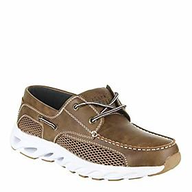 men's company, dock boat shoe lt brown 8.5 m
