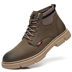 Men's Boots British Daily Pigskin Khaki / Brown Fall / Winter