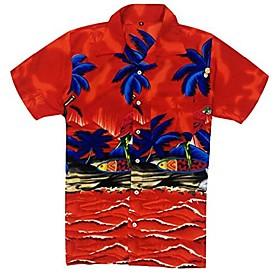 hawaiian shirt for men's short sleeve casual fashion beach shirt