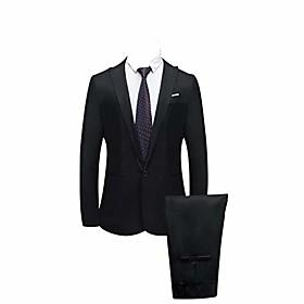 men's 2 pieces suit shawl lapel tuxedo suits shawl lapel one button tux jacket coat trousers dinner wedding black