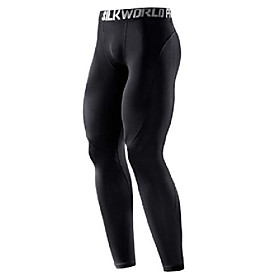 men's 2 pack compression pants baselayer cool dry sports tights leggings,red,blackred,us l