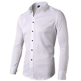 bamboo fiber mens dress shirts slim fit solid casual button down shirts for men,blue gray shirts,15 neck 32 sleeve, tag 38