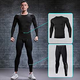 Men's 2-Piece Zipper Pocket Tracksuit Activewear Set Athletic Athleisure Long Sleeve 2pcs Summer Reflective Breathable Quick Dry Fitness Gym Workout Running Jo