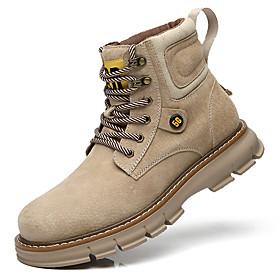 Men's Boots British Daily Pigskin Light Yellow / Black / Khaki Fall / Winter