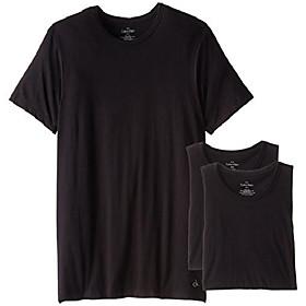 men's body slim fit short sleeve crew neck t-shirt, black, x-large