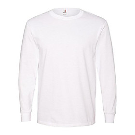 784an ringspun heavyweight long-sleeve t-shirt - white - xl