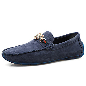 Men's Loafers  Slip-Ons Casual Daily PU Wear Proof Black / Blue / Beige Spring / Fall