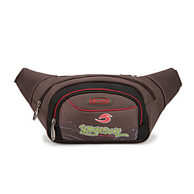 Men's Bags Oxford Cloth Fanny Pack Pattern / Print Zipper for Daily / Outdoor Black / Coffee