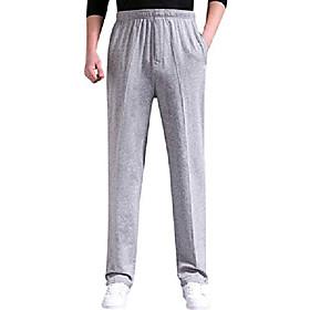 men's casual cotton jogger sweatpants zipper front pants thin light grey s