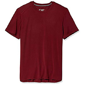men's active short sleeve core t-shirt, cabernet, large