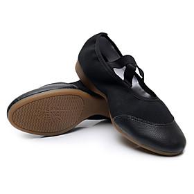 Women's Dance Shoes Latin Shoes / Modern Shoes / Practice Trainning Dance Shoes Flat Splicing Flat Heel Customizable Black / Red / Performance