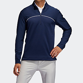 Men's 1 Piece Golf Zip Top Half Zip Solid Color UV Sun Protection Breathable Quick Dry Autumn / Fall Spring Winter Sports Outdoor / Cotton / Long Sleeve / Stre