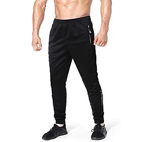 Men's Chinos Sweatpants Pants Letter Breathable Black S M L