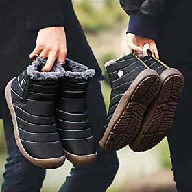Men's Loafers  Slip-Ons Sporty / Classic / Casual Daily Outdoor Cycling Shoes / Walking Shoes Canvas Warm Waterproof Non-slipping Black / Blue / Khaki Fall / W