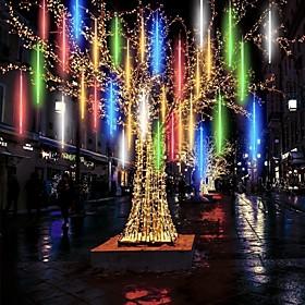 Waterproof Meteor Shower Rain 8 Tubes LED Light 30cm 11.8inch for Christmas Tree Decoration Outdoor Wedding Banquet Garden Holidays Decorat