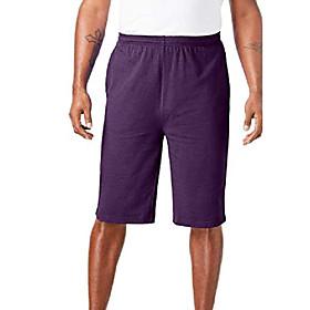 butamp; #39;s big amp; tall lightweight jersey cargo shorts - tall - l, heather hunter