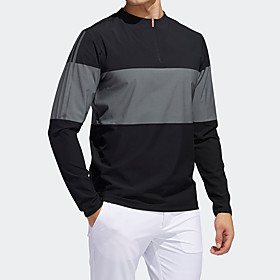 Men's 1 Piece Golf Zip Top Half Zip Color Block UV Sun Protection Breathable Quick Dry Autumn / Fall Spring Winter Sports Outdoor / Nylon / Long Sleeve / Stret