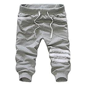men's casual loose pocket drawstrintg comfy elastic waist baggy jogger slacks harem sweatpants trouser gray
