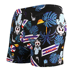 Men's Beach board shorts Swimsuit Print 3D Swimwear Bathing Suits Navy Blue / Animal