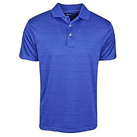 golf- broken windowpane polo dazzling blue medium