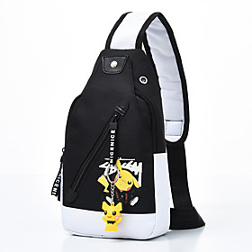Men's Bags Nylon Sling Shoulder Bag Pattern / Print Zipper for Daily / Outdoor White / Yellow / Green