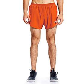 men's 3 inches running shorts athletic wicking sports jogging track shorts split training activewear orange m