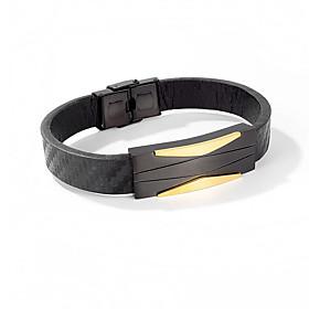 Men's Bracelet Bangles Leather Bracelet Classic Totem Series Stylish Leather Bracelet Jewelry Black / Gold For Anniversary Gift Festival / Titanium Steel