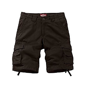 men's twill comfort cargo shorts without belt #3087 (label size l/32 (us 30), grayish green)