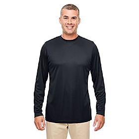 men's cool amp; dry performance long-sleeve t-shirt 6xl black