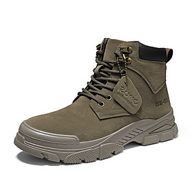 Men's Boots Classic / Vintage / British Outdoor Office  Career Microfiber Non-slipping Wear Proof Camel / Khaki / Brown Fall / Winter