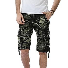 men's camo cargo shorts cotton