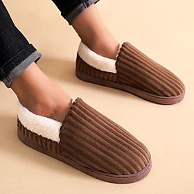 Men's / Unisex Slippers  Flip-Flops Casual Home Polyester Warm Coffee Fall / Winter