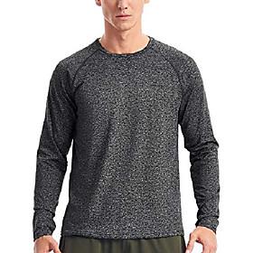 athletic long sleeve shirt men(m,charcoal heather)