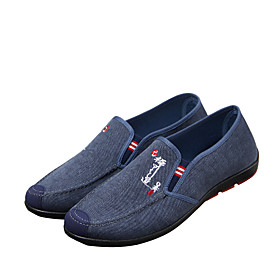 Men's Loafers  Slip-Ons Casual Daily Denim Wear Proof Blue / Gray Spring / Fall