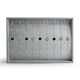velvet stackable jewelry display trays showcase jewelry organizer storage trays(necklace display)
