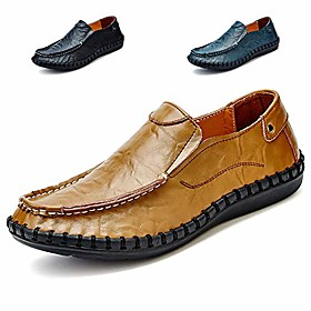 men's driving shoes leather fashion slipper casual slip on loafers shoes nslfs0899-br41 brown