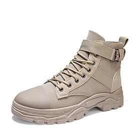 Men's Boots Casual Outdoor PU Breathable Warm Dark Grey / Black / Light Grey Winter