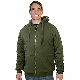 full-zip quilted plush sherpa-lined hoodie jacket, zch67_2xl