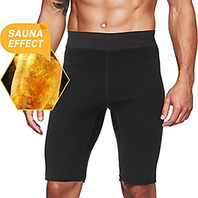 men's hot sweat sauna pants thermo slimming shorts thigh shaper for workout neoprene body shaper l