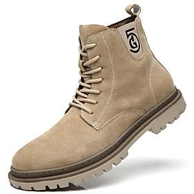 Men's Boots British Daily Pigskin Light Yellow / Black / Brown Fall / Winter