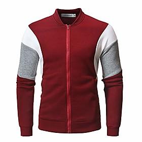 clearance  menamp; #39;s fleece zip pullover hooded sweatshirt jacket coatamp; #40;red, us size l = tag xlamp; #41;