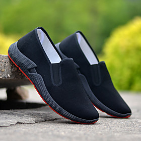 Men's Loafers  Slip-Ons Casual Daily Mesh Wear Proof Black Spring / Fall