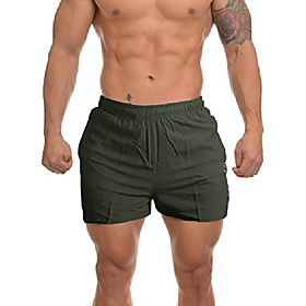 men's 7'' lightweight quick dry running shorts stretch workout shorts with zip pockets dk116_green_us xl