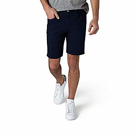 butamp; #39;s casual stretch knit jean shorts, classic 5-pocket design, classic fit knit denim shorts, 9.5 inseam, navy, 36