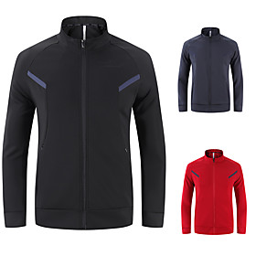 Men's Hoodie Jacket Color Block Front Zipper Stand Collar Solid Color Sport Athleisure Hoodie Long Sleeve Breathable Quick Dry Sweat Out Comfortable Exercise