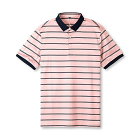 Men's 1 Piece Golf Polo Shirts Stripes UV Sun Protection Breathable Quick Dry Autumn / Fall Spring Summer Sports Outdoor / Cotton / Short Sleeve / Stretchy