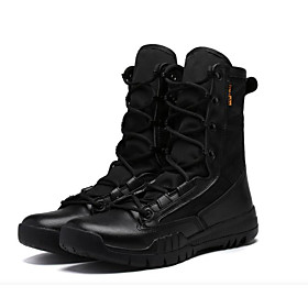 Men's Boots Sporty Athletic Daily Running Shoes PU Non-slipping Wear Proof Black / Brown Fall / Winter